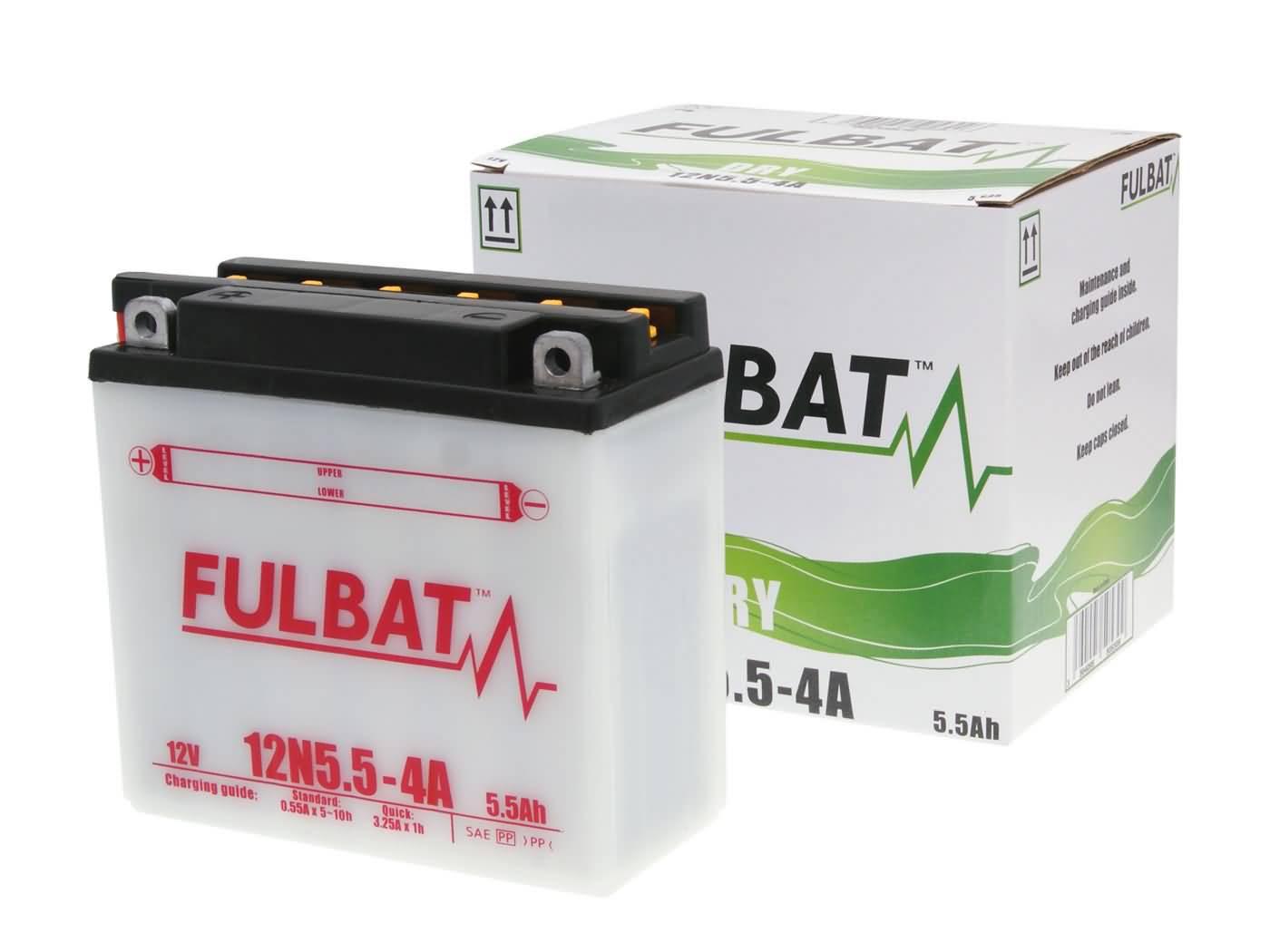Fulbat 12N5.5-4A DRY száraz akkumulátor + savcsomag