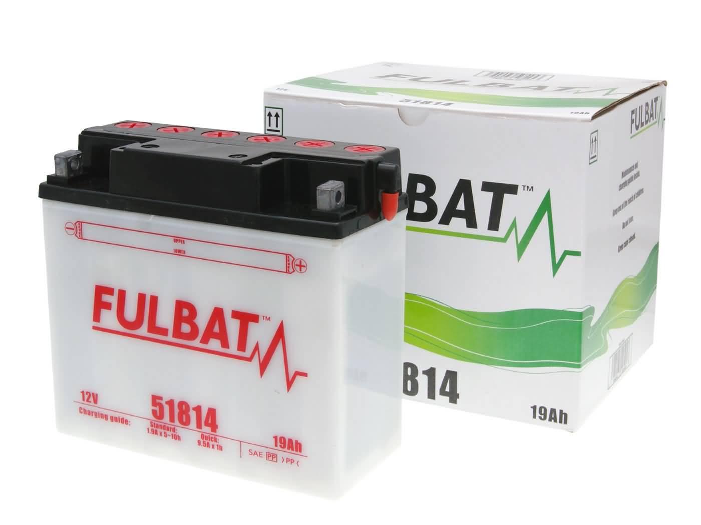 Fulbat 51814 DRY száraz akkumulátor + savcsomag