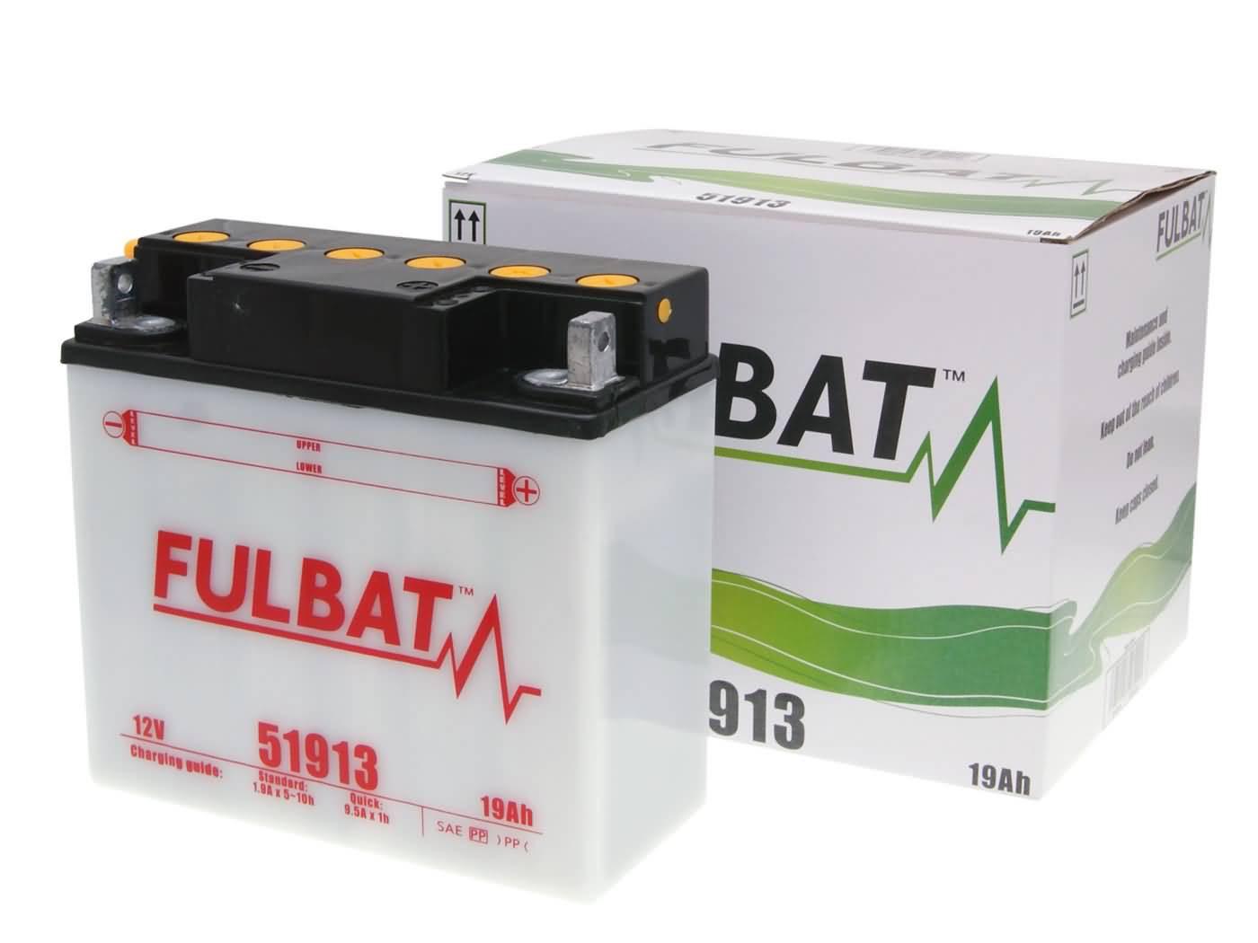 Fulbat 51913 DRY száraz akkumulátor + savcsomag