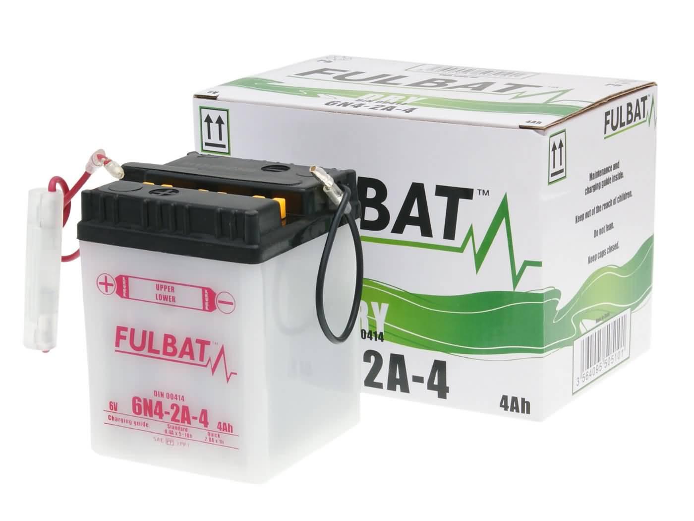 Fulbat 6V 6N4-2A-4 DRY száraz akkumulátor + savcsomag