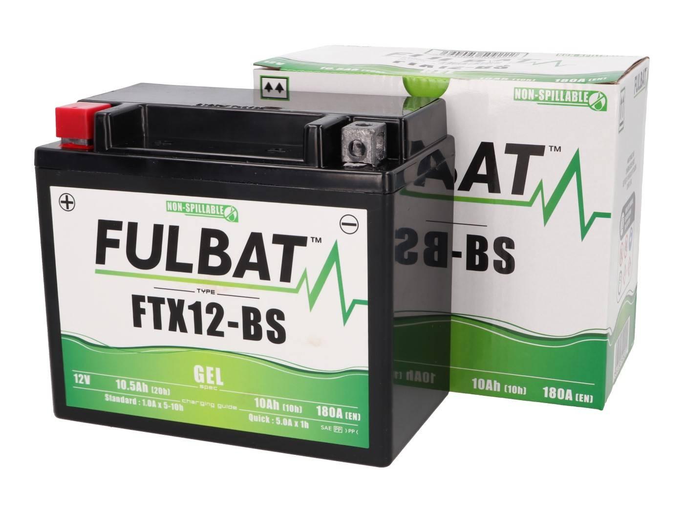 Fulbat FTX12-BS GEL zselés akkumulátor