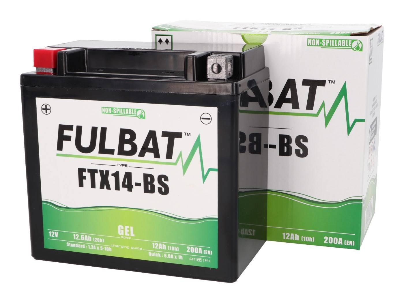 Fulbat FTX14-BS GEL zselés akkumulátor