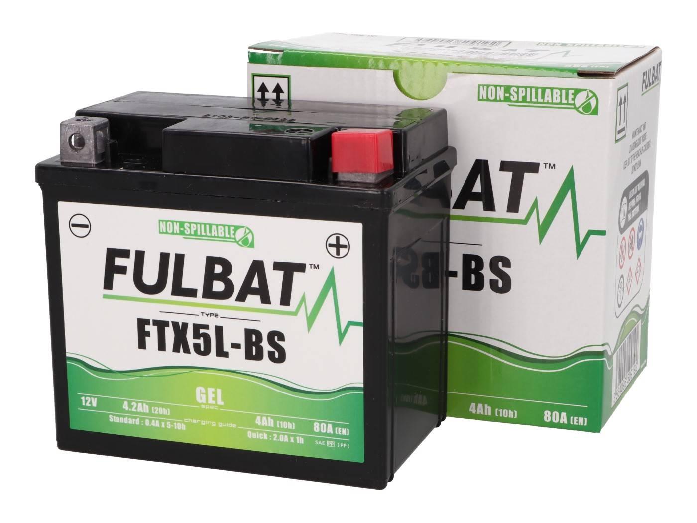 Fulbat FTX5L-BS GEL zselés akkumulátor