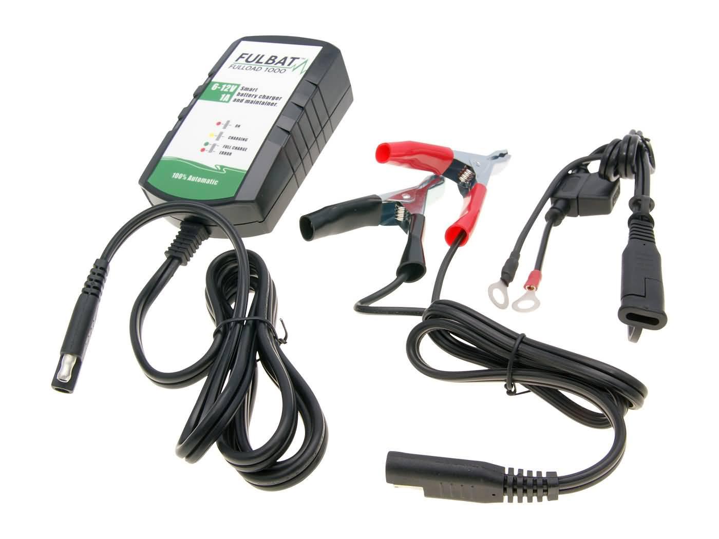Fulbat Fulload FL1000 akkumulátortöltő - 6V&12V-os ólomsav alapú akkumulátorokhoz 2-40Ah-ig (karbantartás 60Ah-ig)