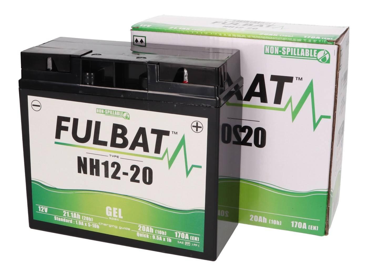 Fulbat NH12-20 / NH12-18 GEL zselés akkumulátor fűnyíró traktorokhoz és gépekhez