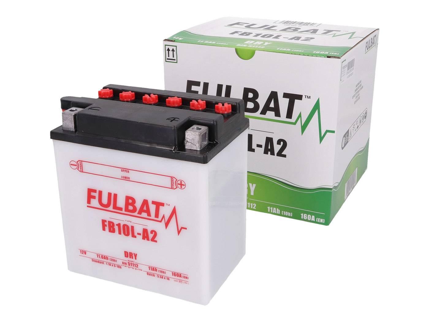 Fulbat FB10L-A2 DRY száraz akkumulátor + savcsomag
