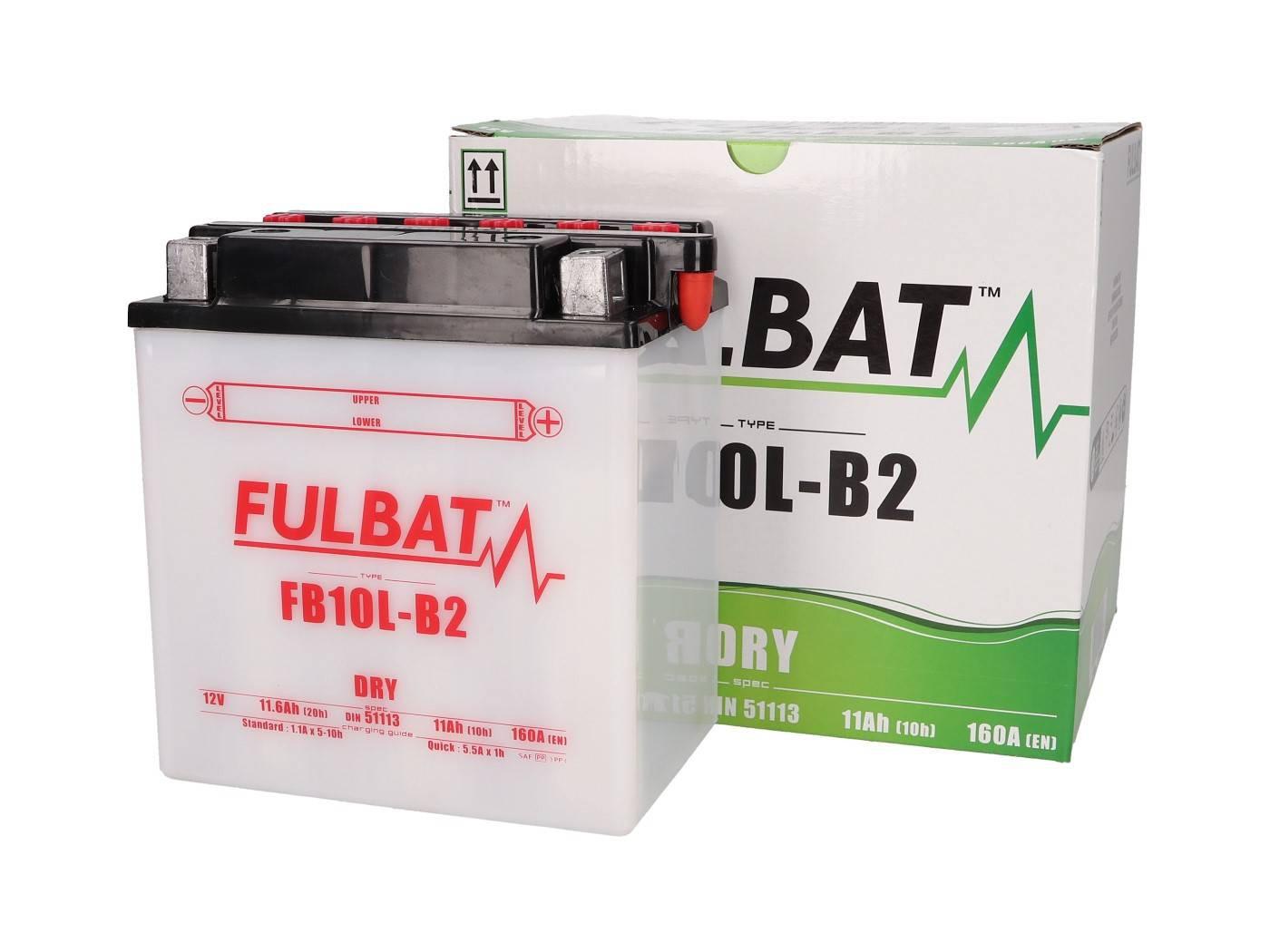 Fulbat FB10L-B2 DRY száraz akkumulátor + savcsomag
