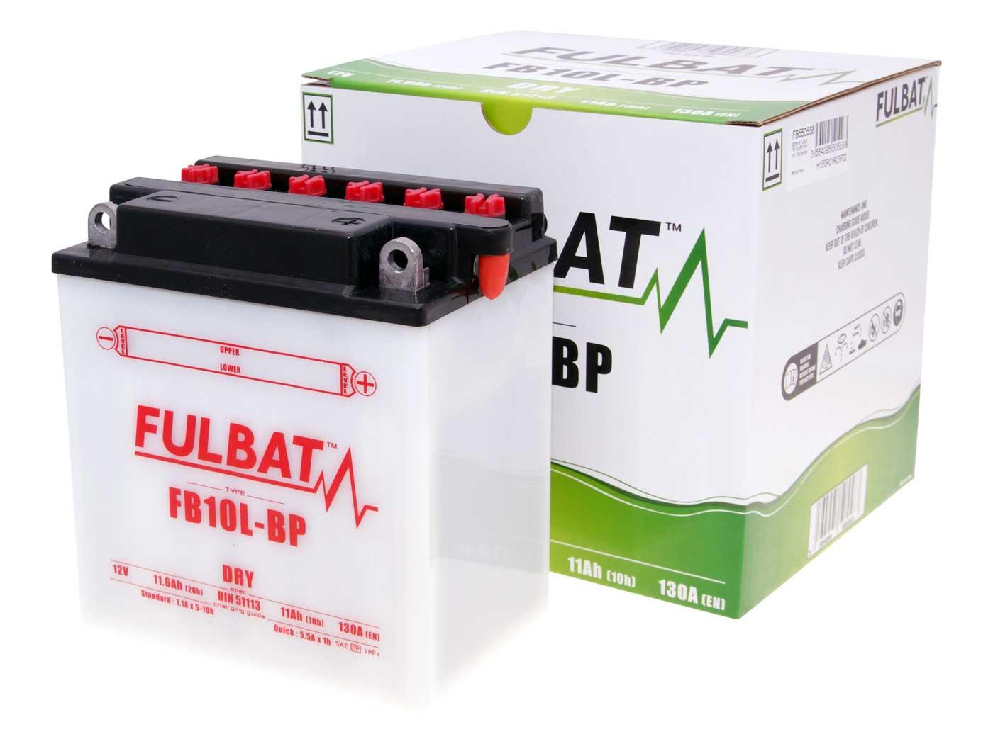 Fulbat FB10L-BP DRY száraz akkumulátor + savcsomag