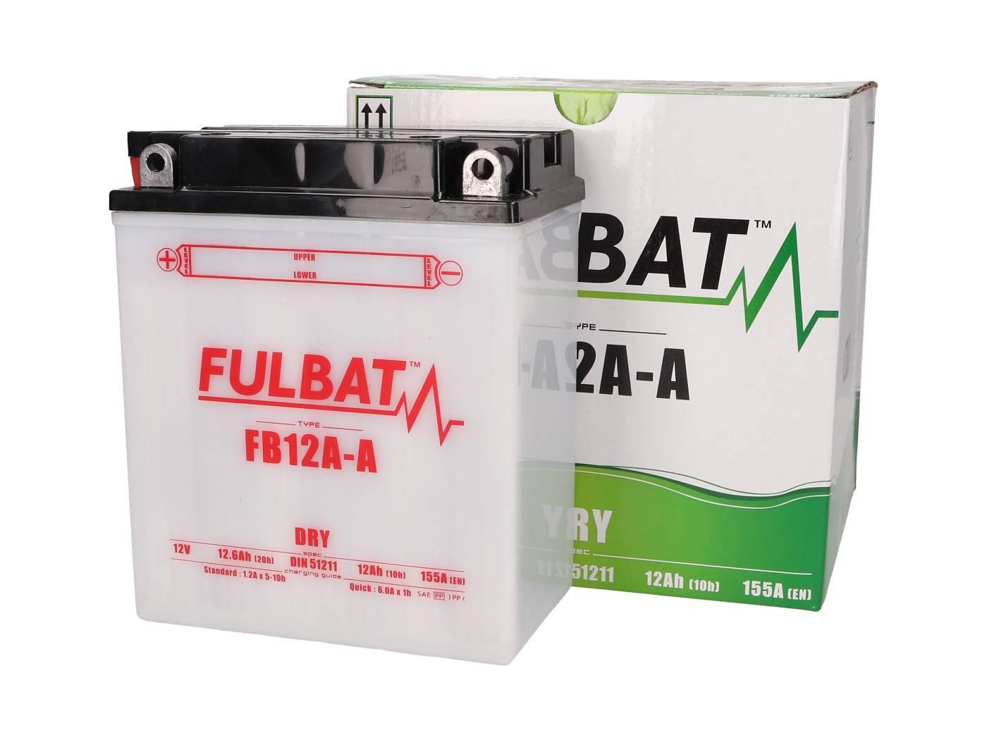 Fulbat FB12A-A DRY száraz akkumulátor + savcsomag