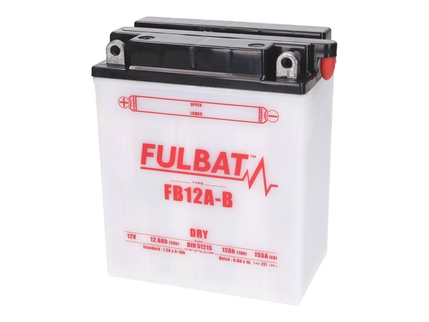 Fulbat FB12A-B DRY száraz akkumulátor + savcsomag