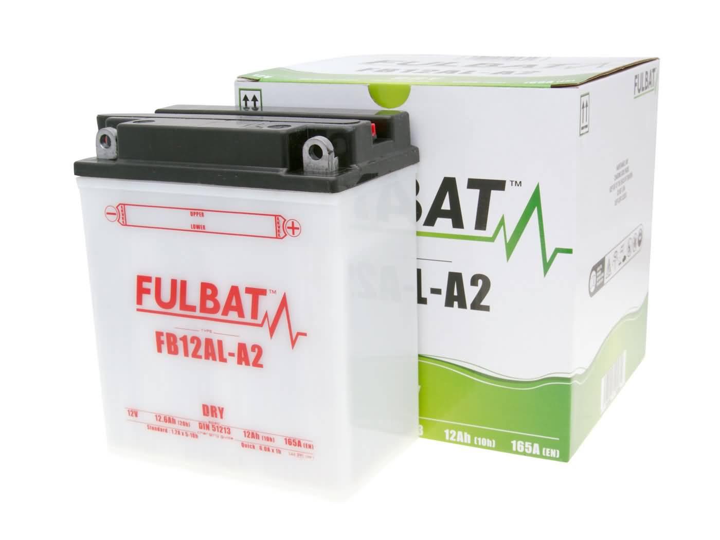 Fulbat FB12AL-A2 DRY száraz akkumulátor + savcsomag