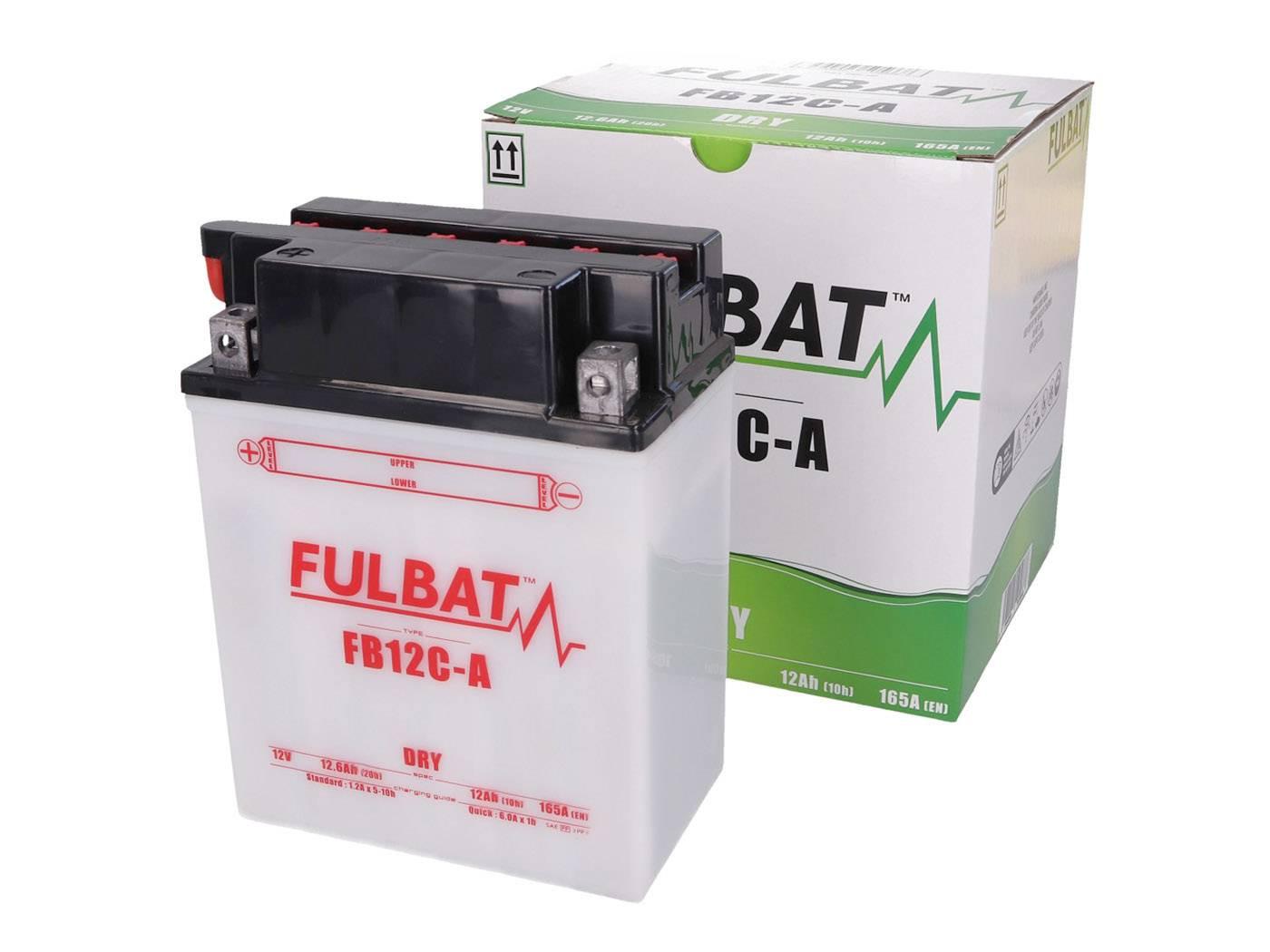 Fulbat FB12C-A DRY száraz akkumulátor + savcsomag