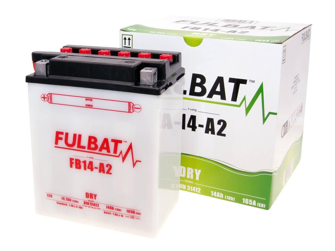 Fulbat FB14-A2 DRY száraz akkumulátor + savcsomag