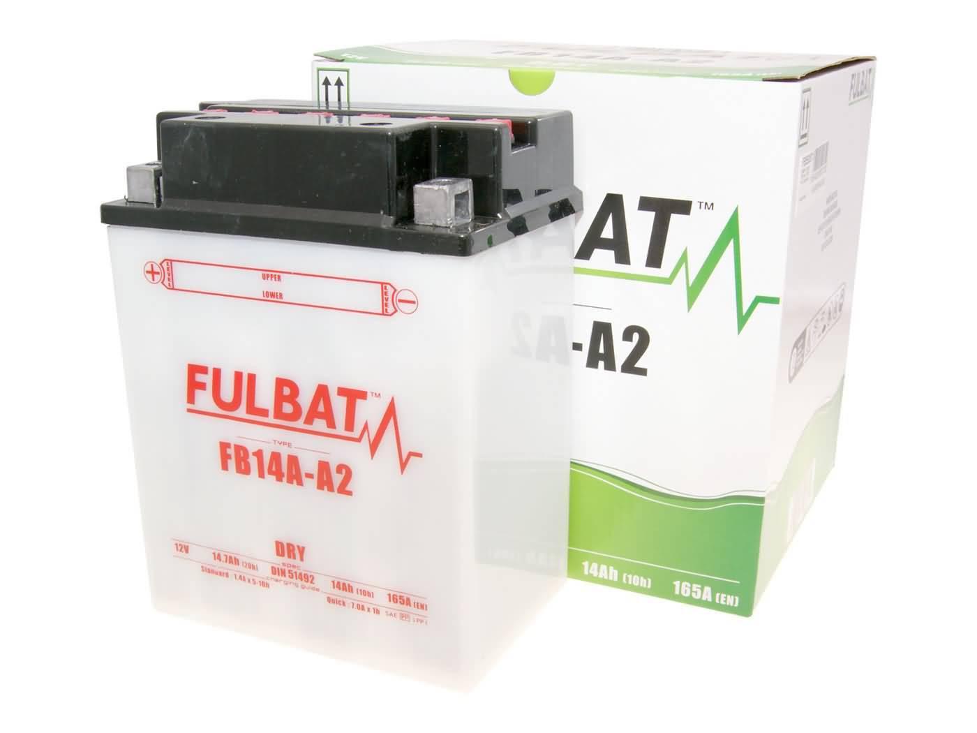Fulbat FB14A-A2 DRY száraz akkumulátor + savcsomag