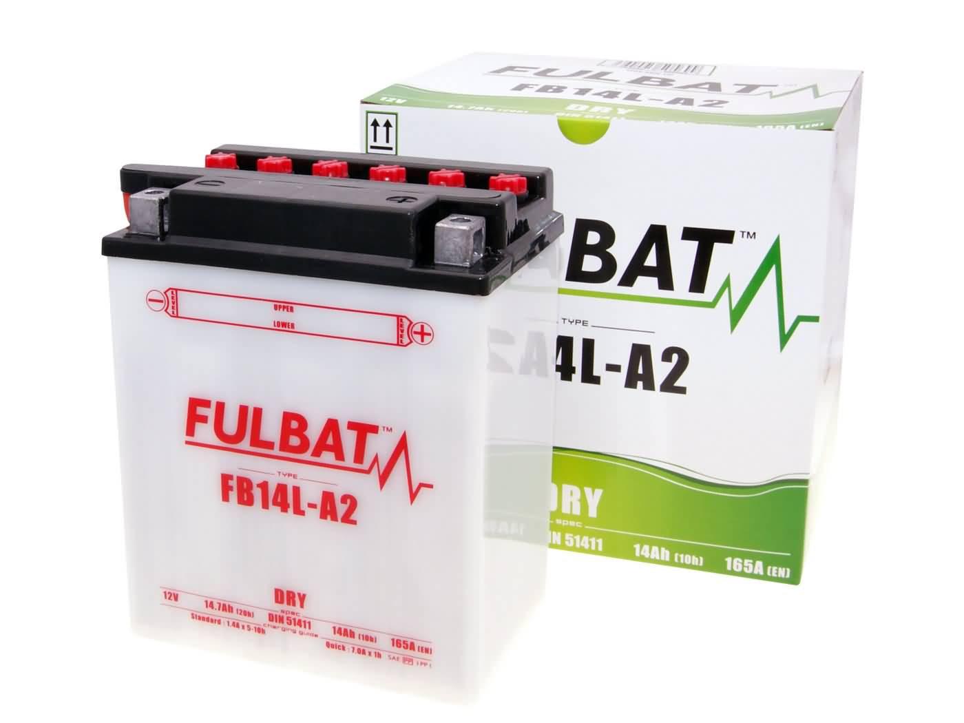 Fulbat FB14L-A2 DRY száraz akkumulátor + savcsomag