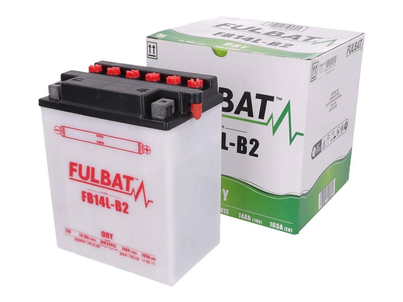 Fulbat FB14L-B2 DRY száraz akkumulátor + savcsomag