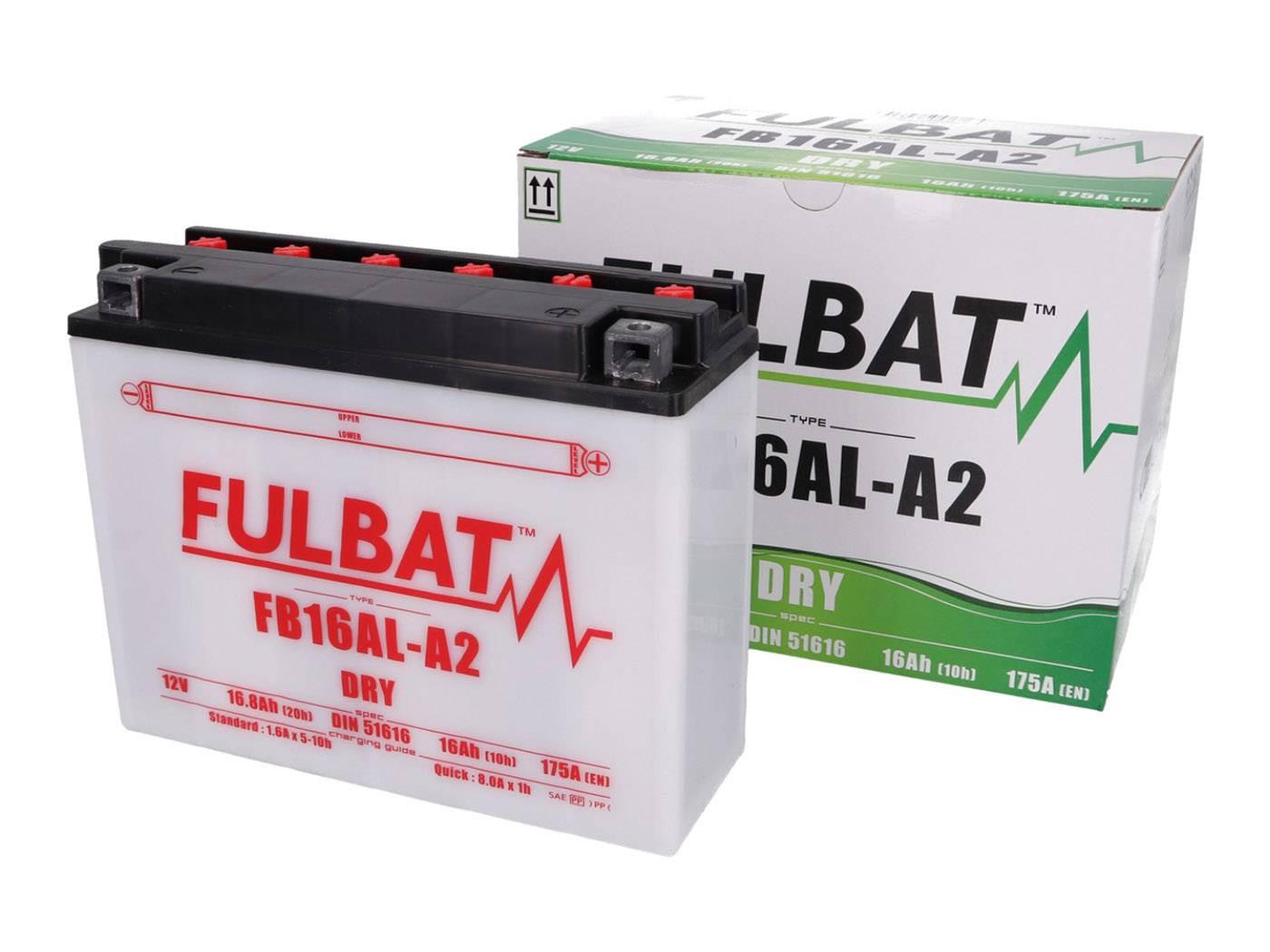 Fulbat FB16AL-A2 DRY száraz akkumulátor + savcsomag