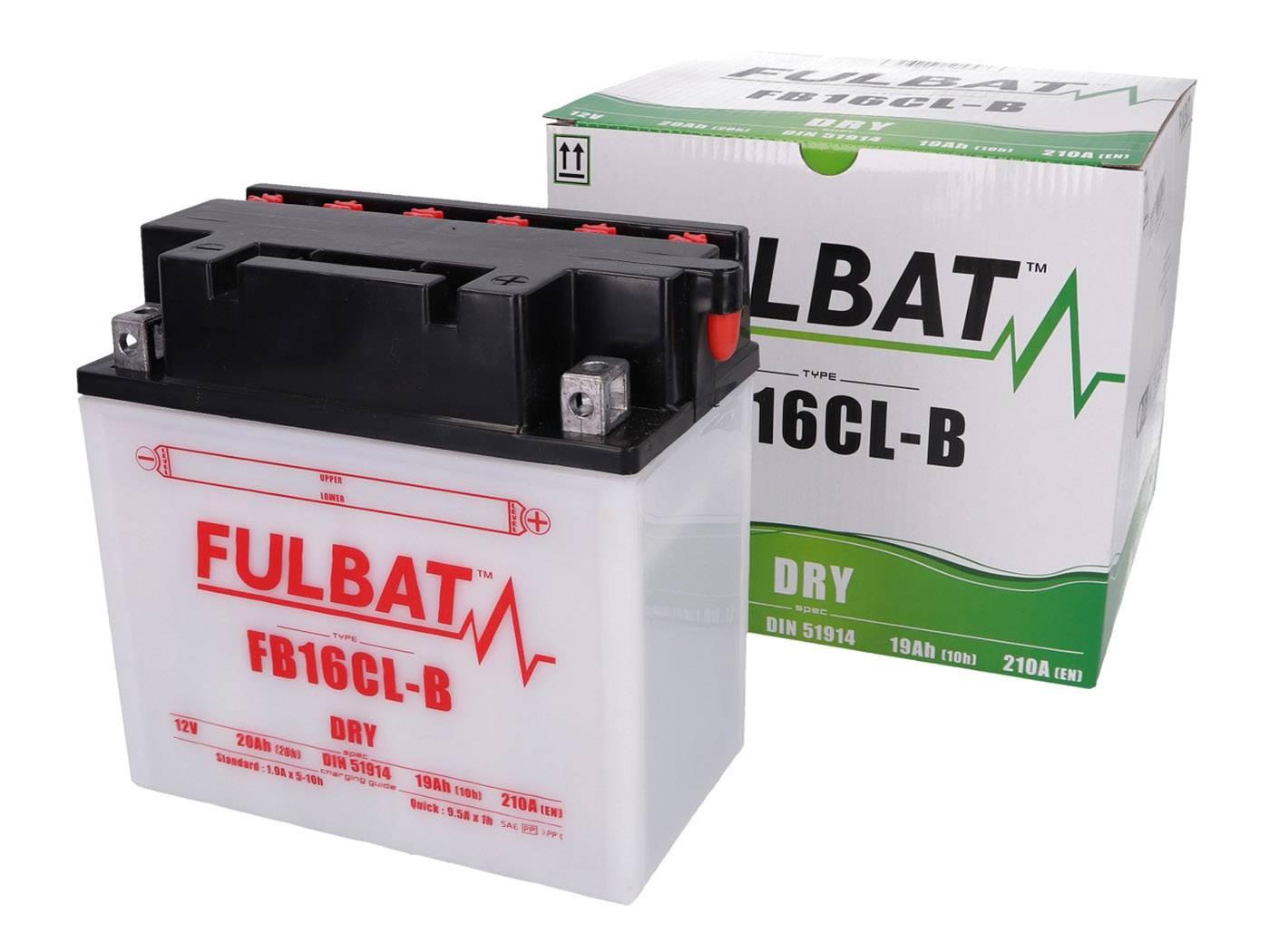 Fulbat FB16CL-B DRY száraz akkumulátor + savcsomag