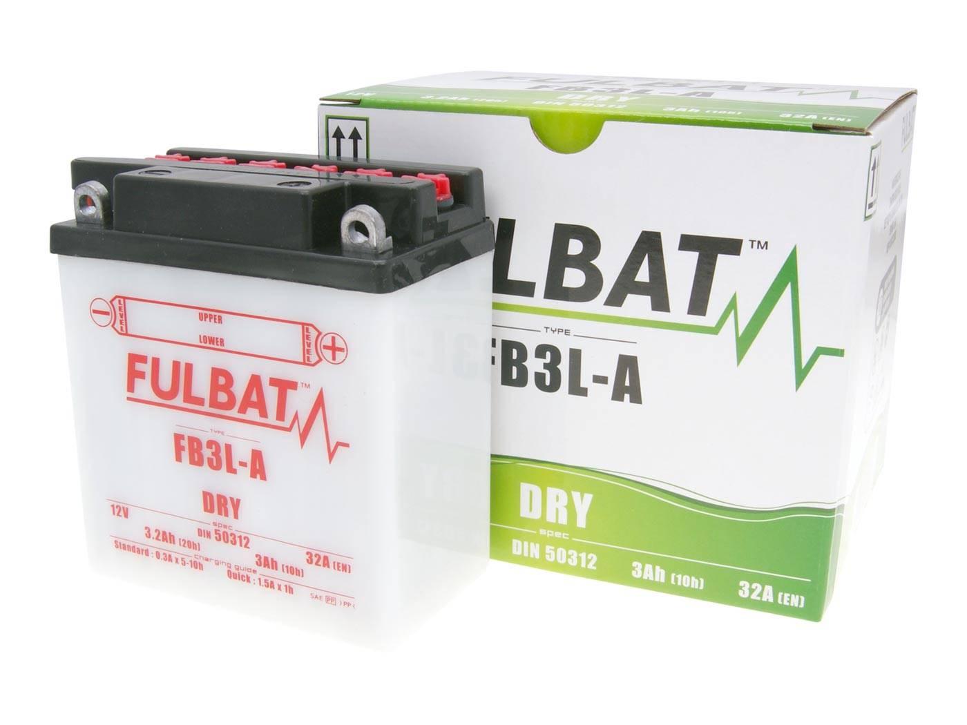 Fulbat FB3L-A DRY száraz akkumulátor + savcsomag