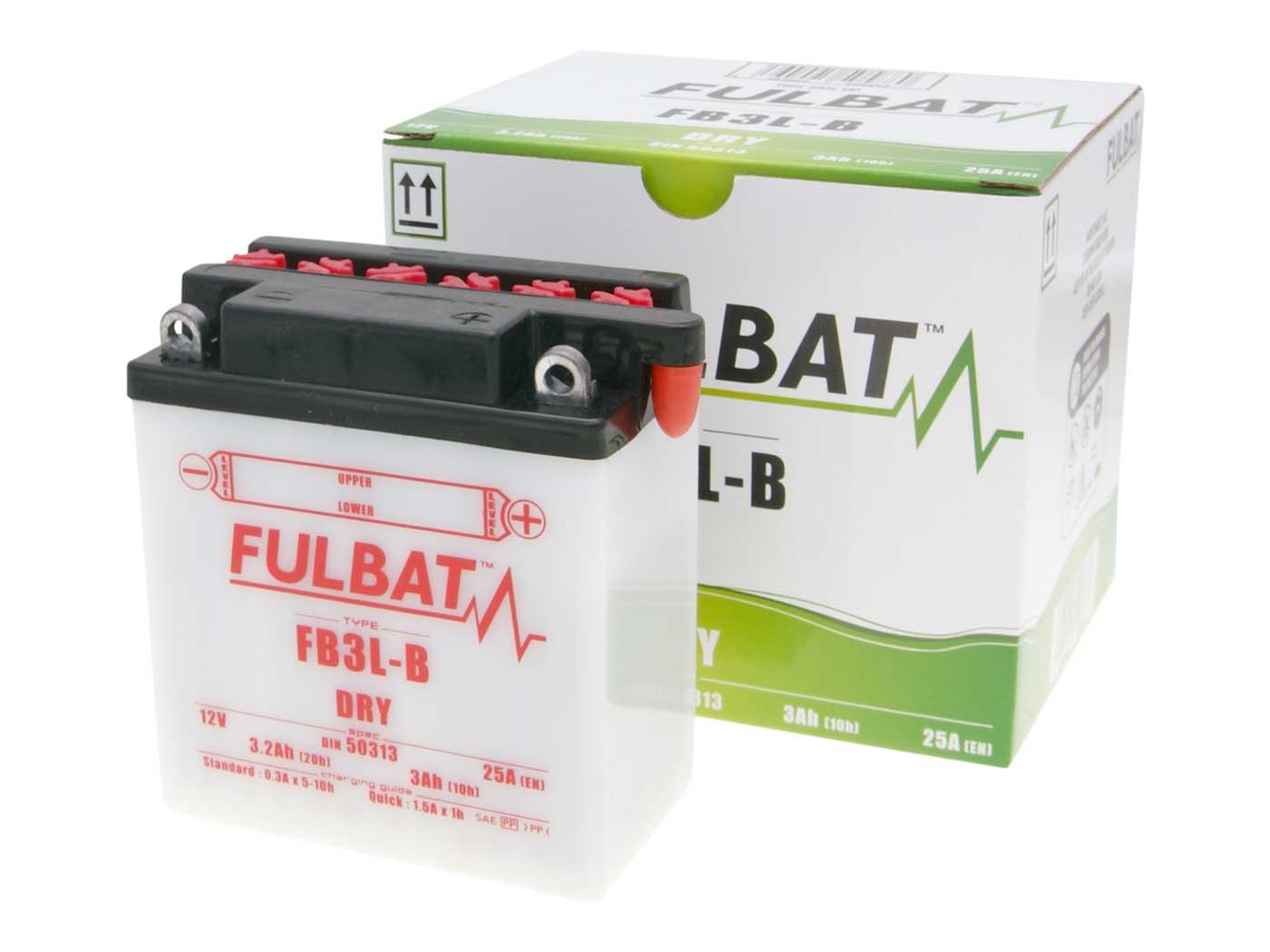 Fulbat FB3L-B DRY száraz akkumulátor + savcsomag
