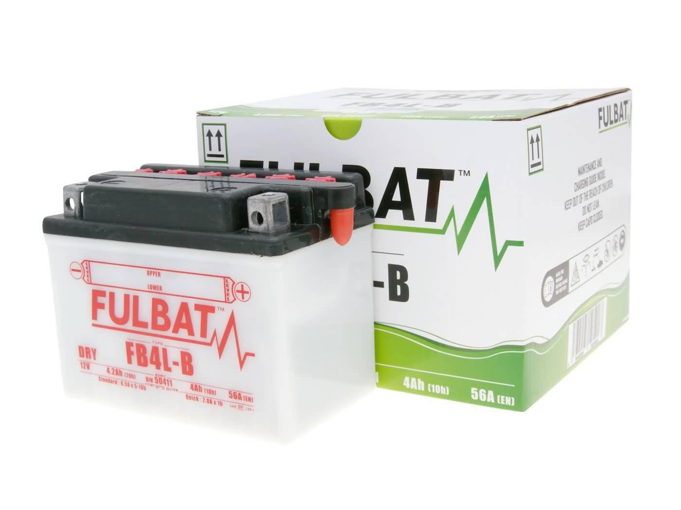 Fulbat FB4L-B DRY száraz akkumulátor + savcsomag