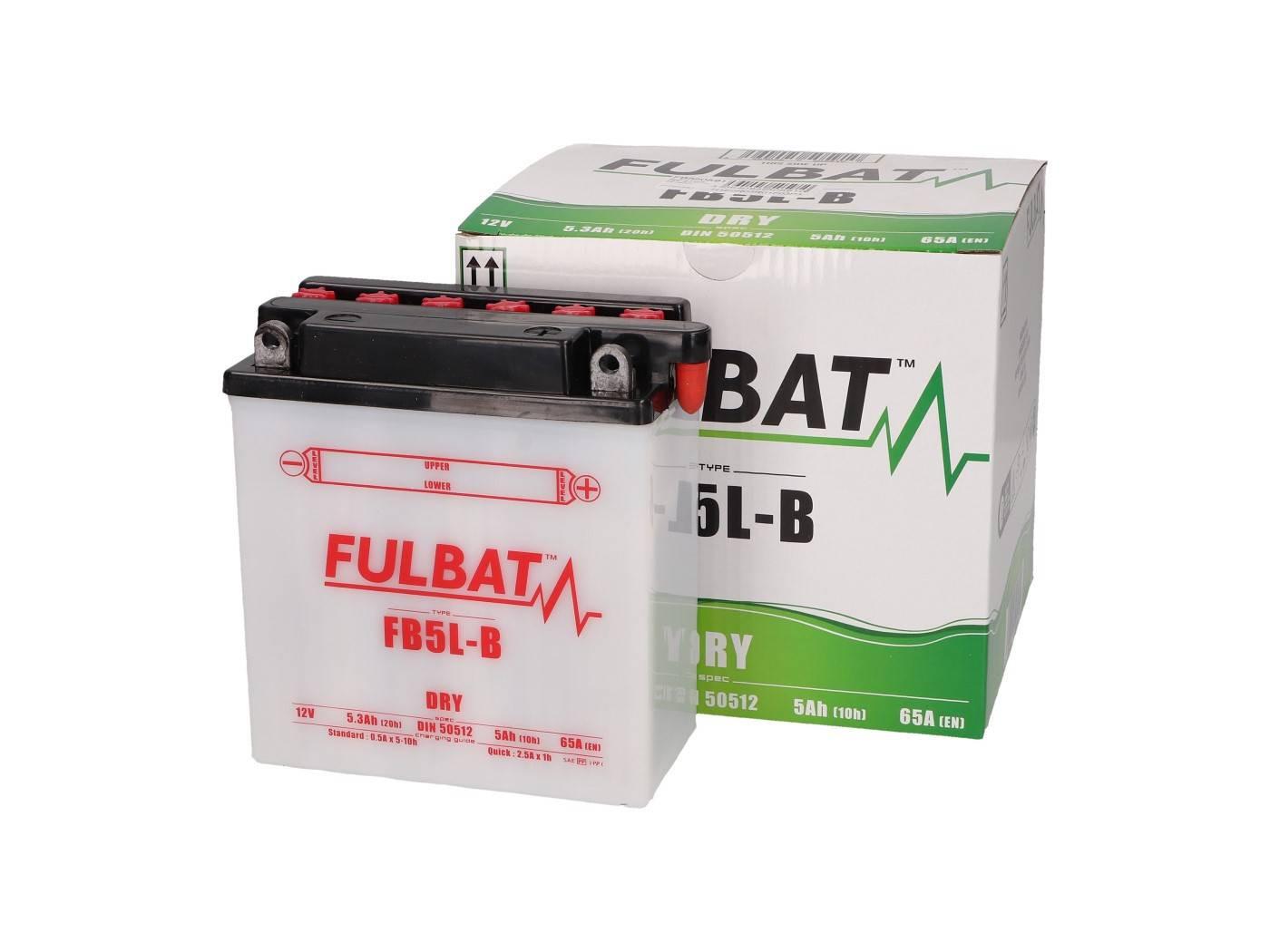 Fulbat FB5L-B DRY száraz akkumulátor + savcsomag