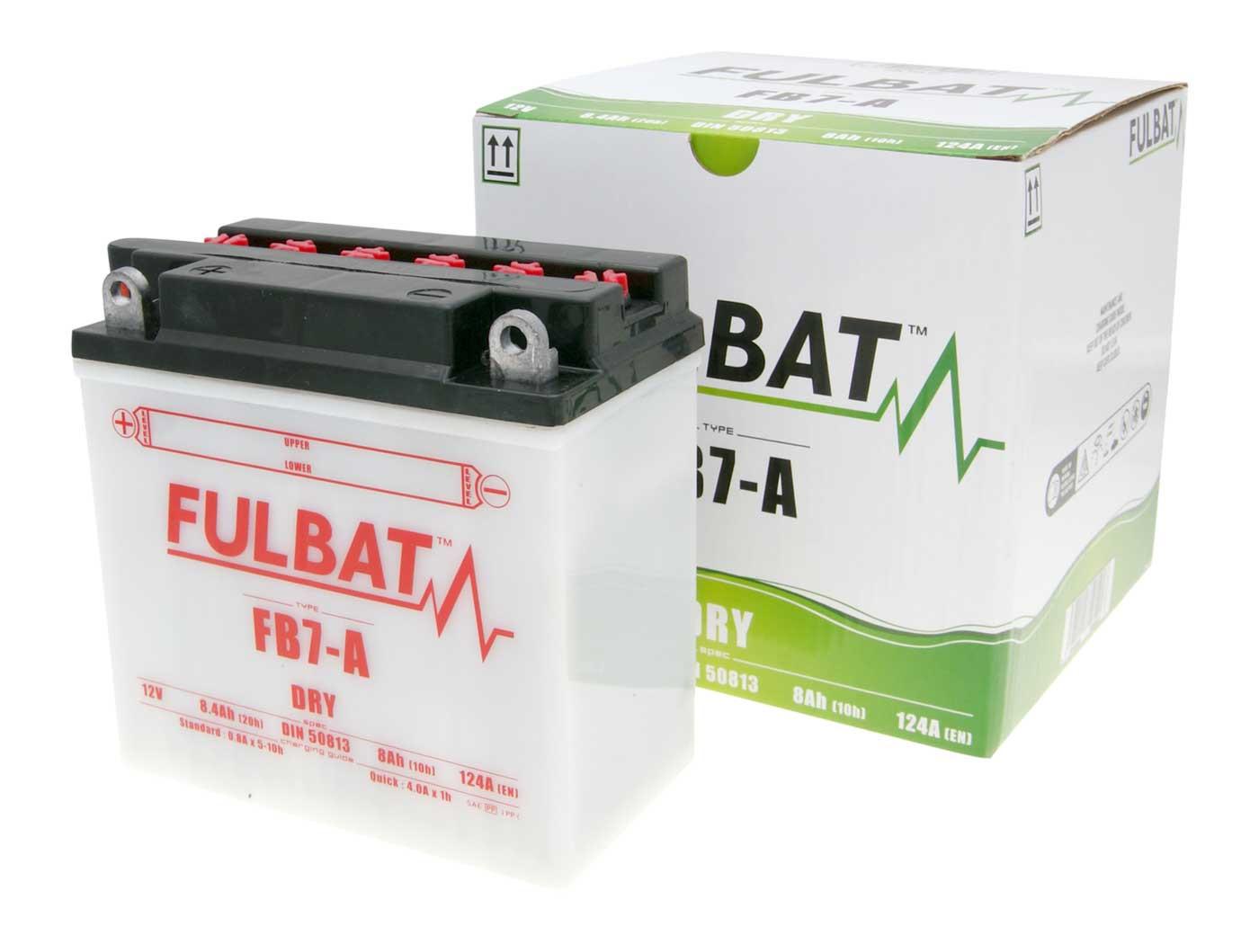 Fulbat FB7-A DRY száraz akkumulátor + savcsomag