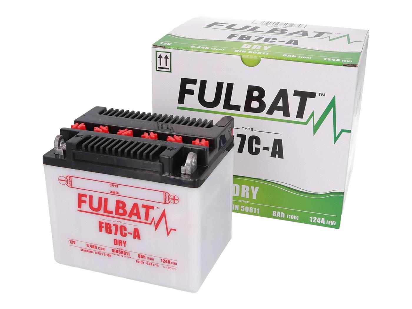 Fulbat FB7C-A DRY száraz akkumulátor + savcsomag