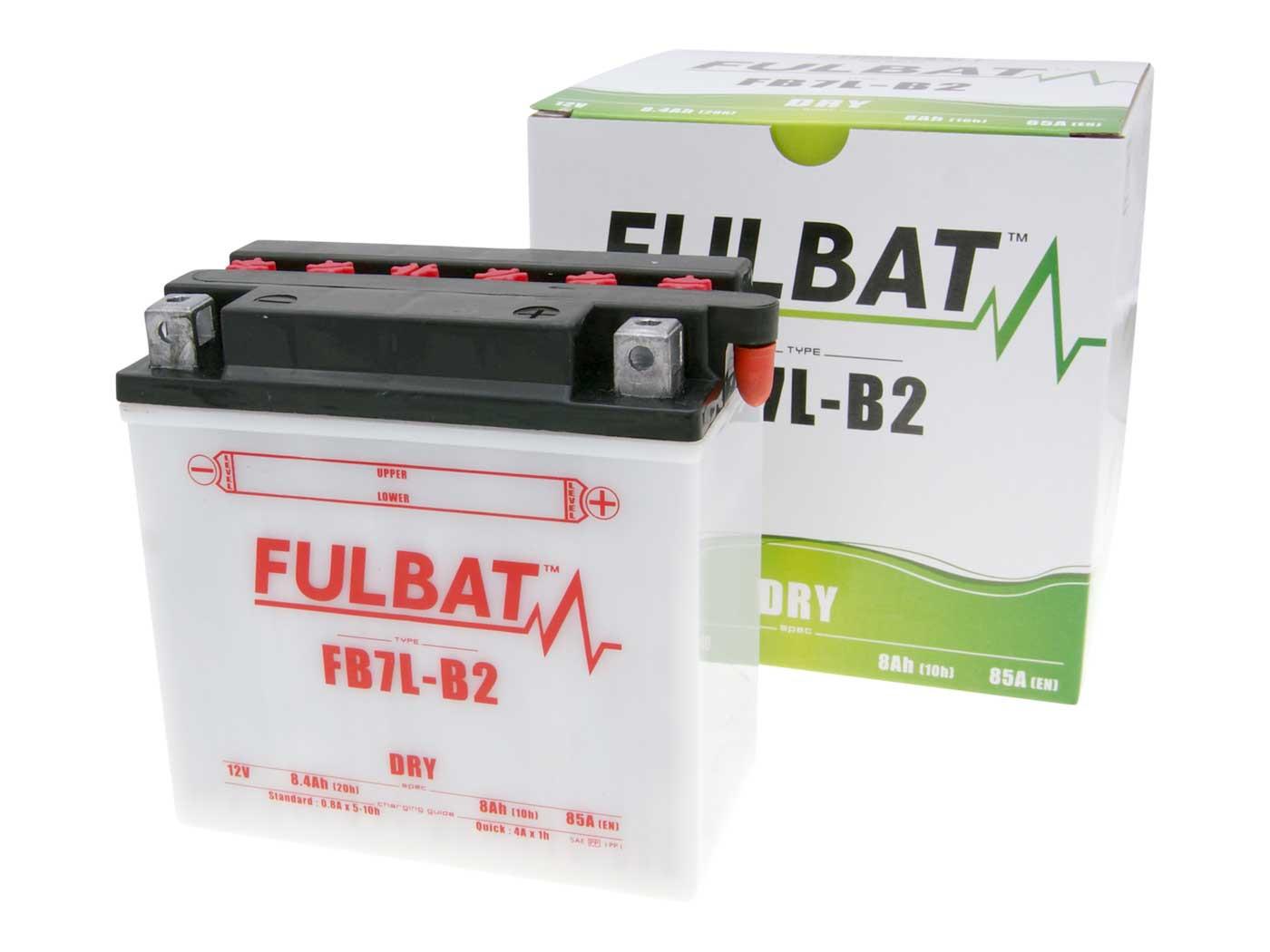 Fulbat FB7L-B2 DRY száraz akkumulátor + savcsomag