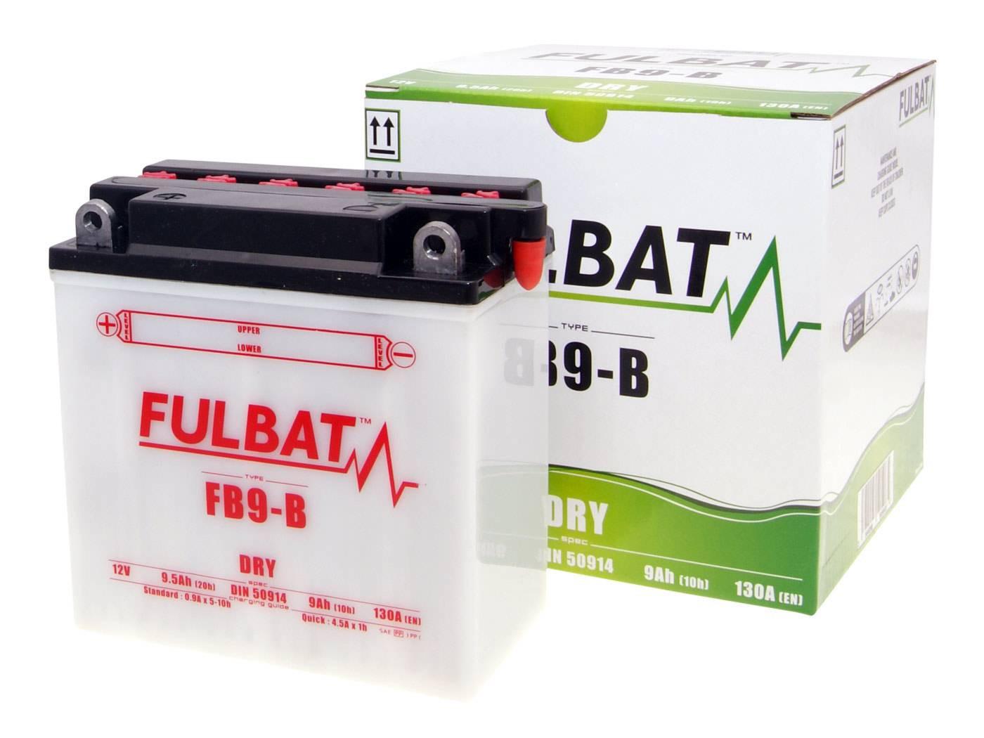Fulbat FB9-B DRY száraz akkumulátor + savcsomag