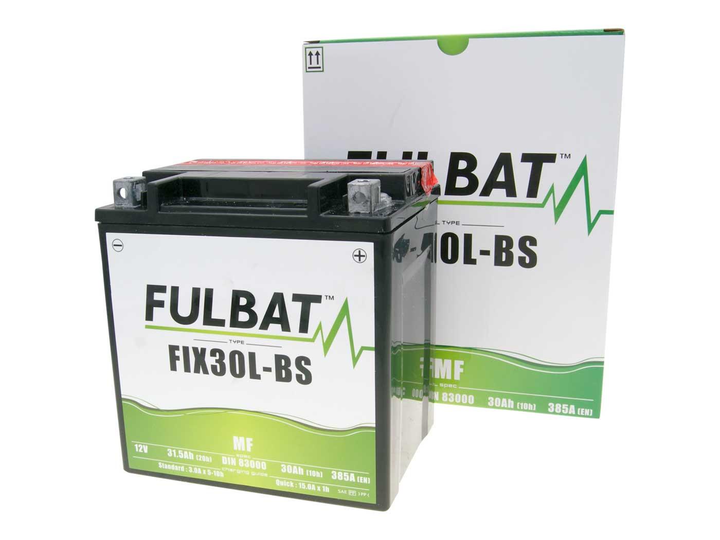 Fulbat FIX30L-BS MF gondozásmentes akkumulátor