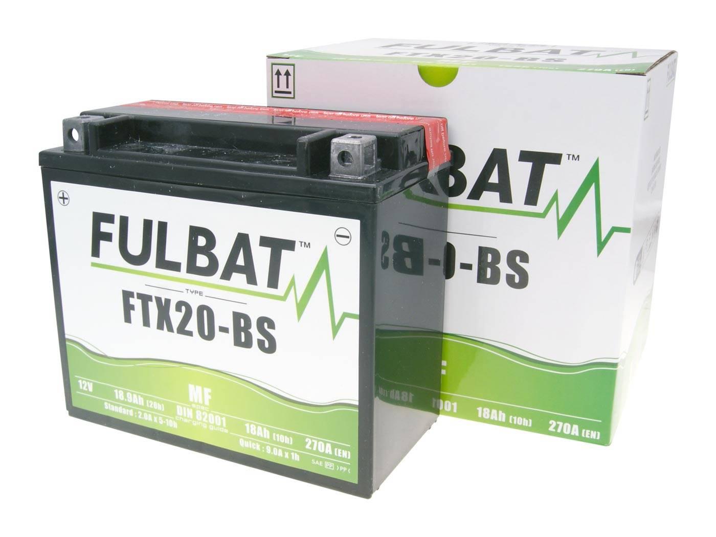 Fulbat FTX20-BS MF gondozásmentes akkumulátor
