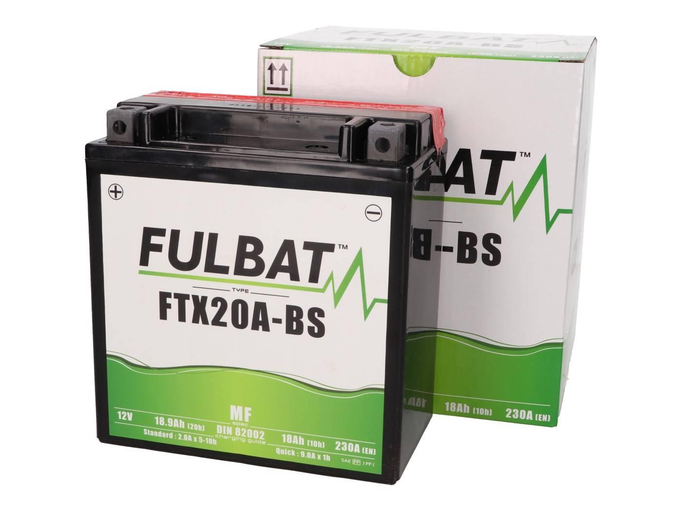 Fulbat FTX20A-BS MF gondozásmentes akkumulátor