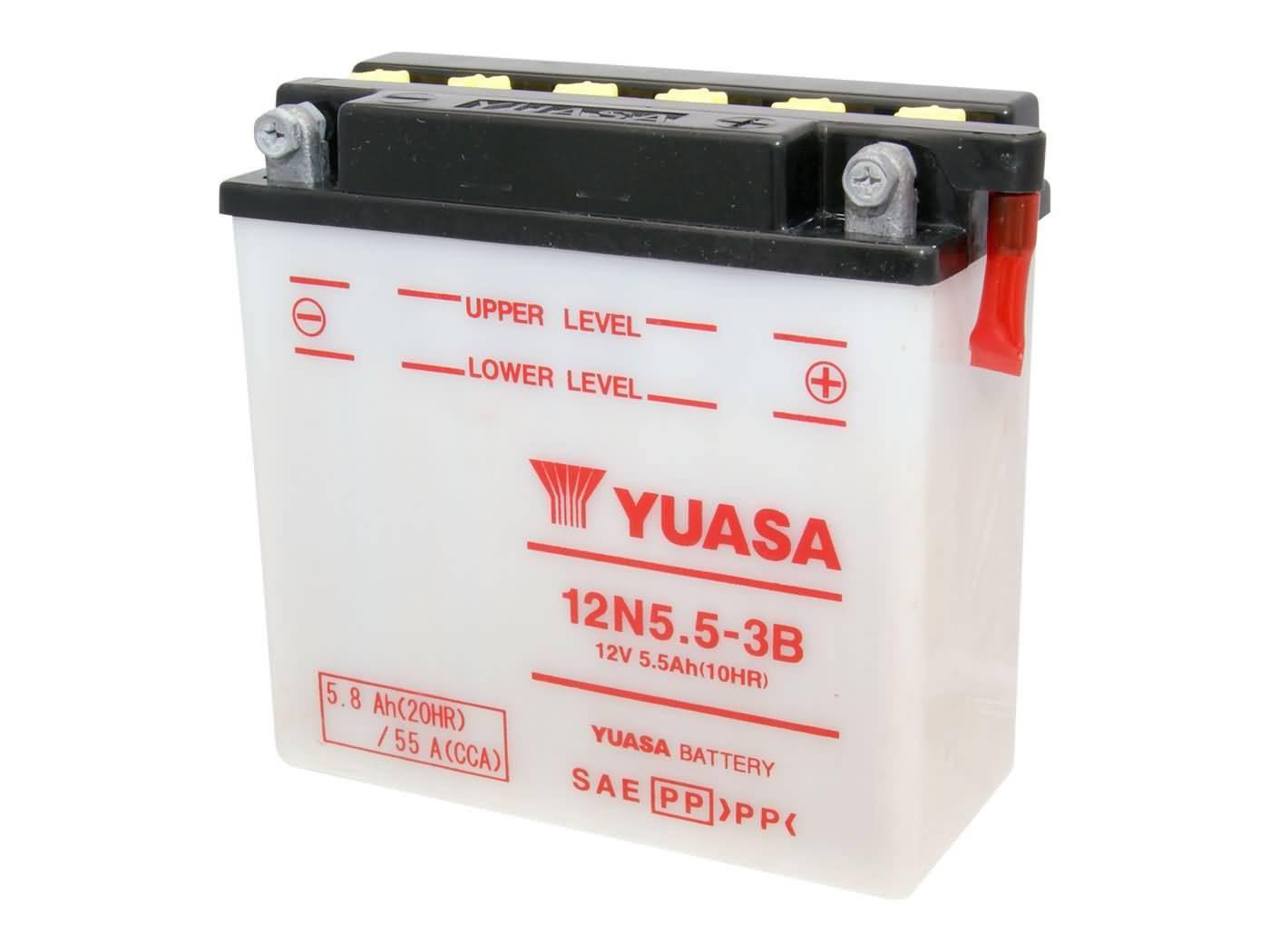 Yuasa 12N5.5-3B akkumulátor - savcsomag nélkül
