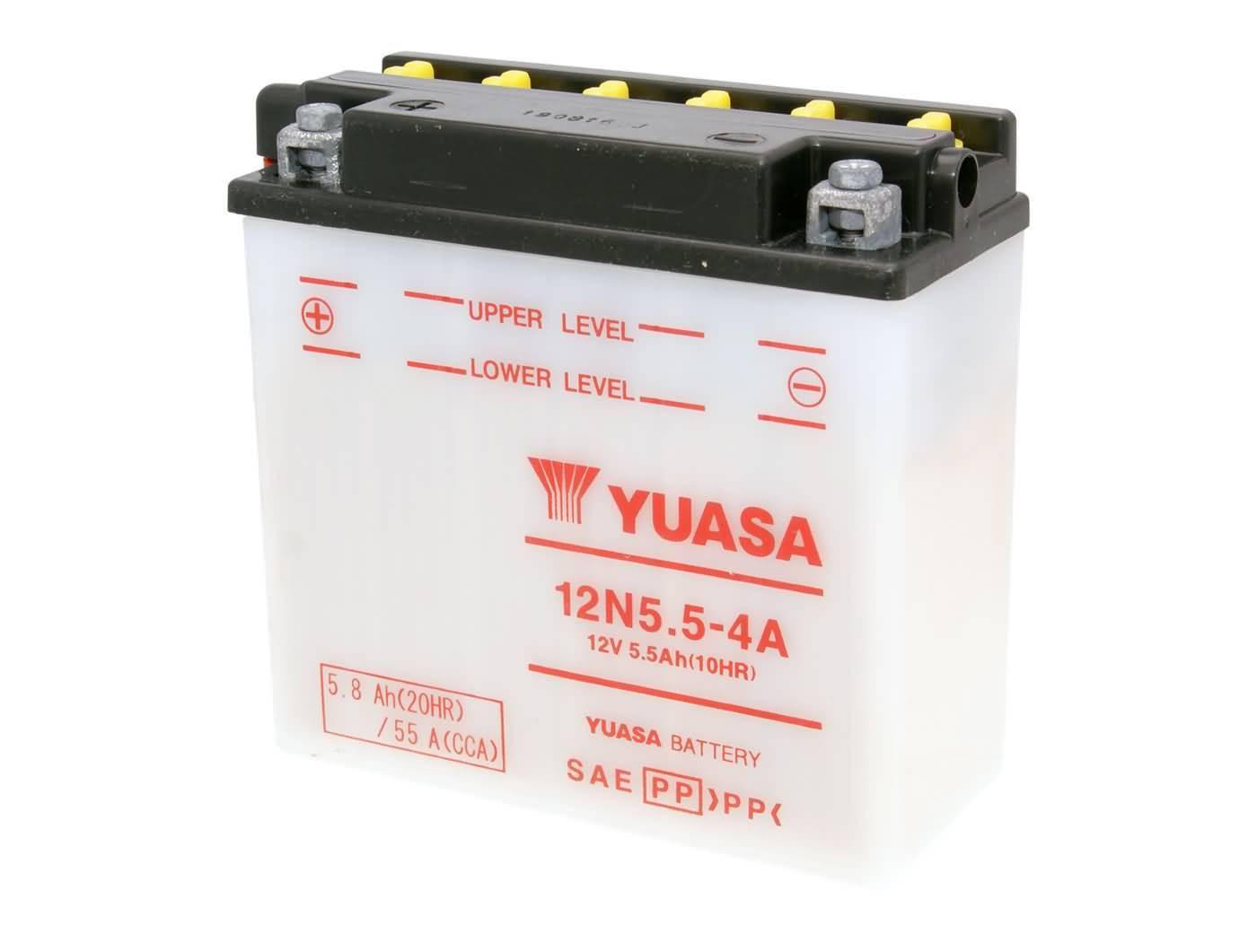 Yuasa 12N5.5-4A akkumulátor - savcsomag nélkül