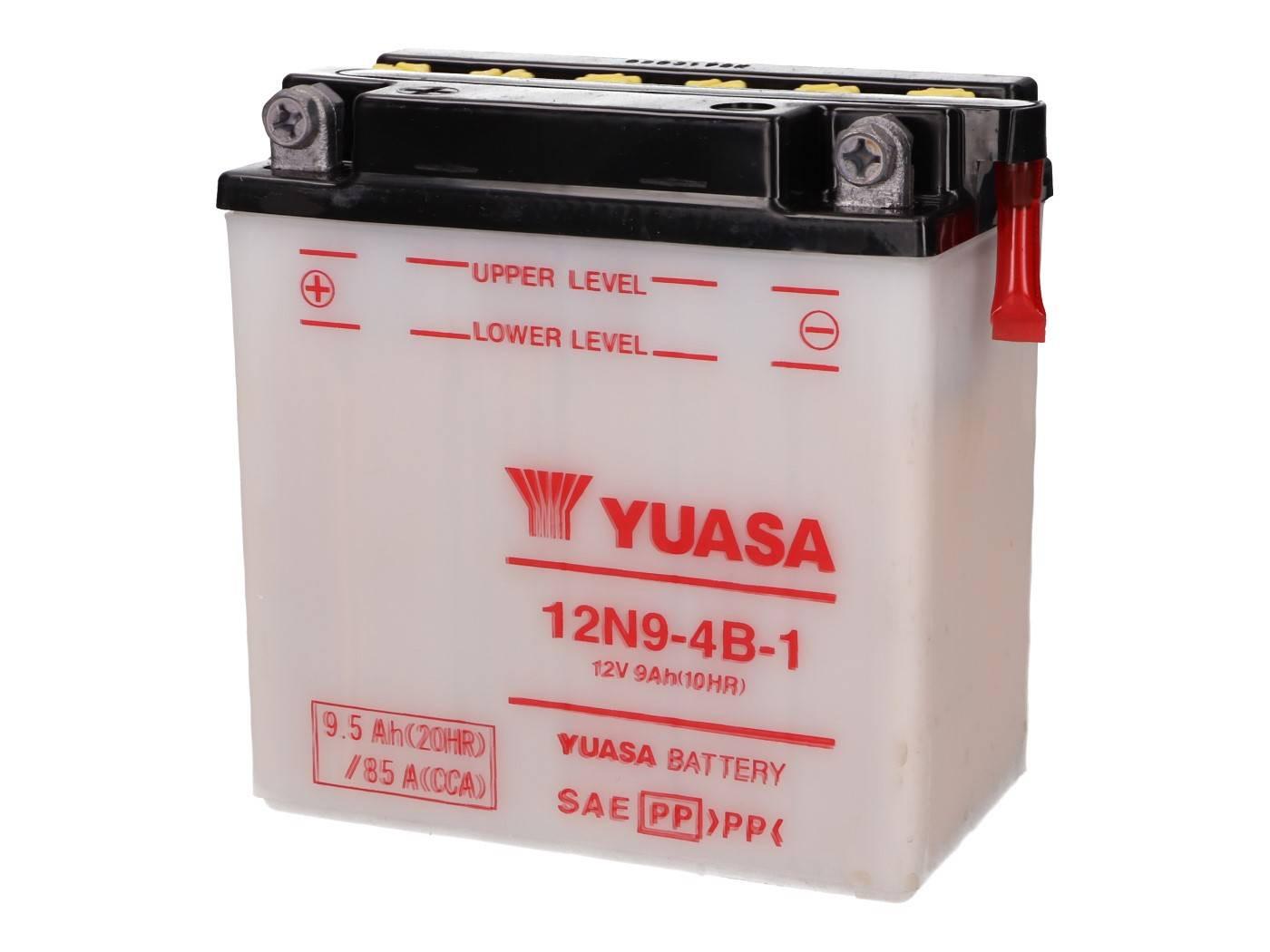 Yuasa 12N9-4B-1 akkumulátor - savcsomag nélkül