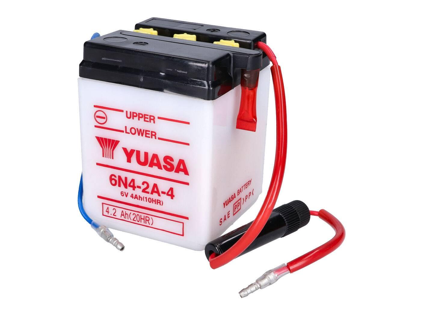 Yuasa 6N4-2A-4 akkumulátor - savcsomag nélkül
