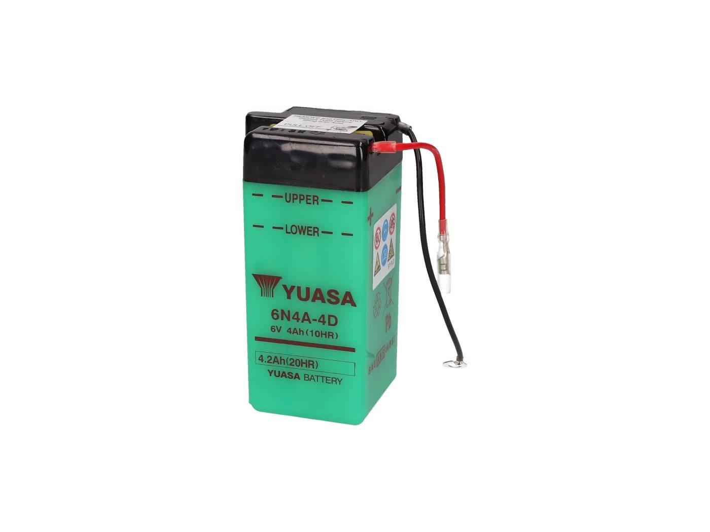 Yuasa 6N4A-4D akkumulátor - savcsomag nélkül