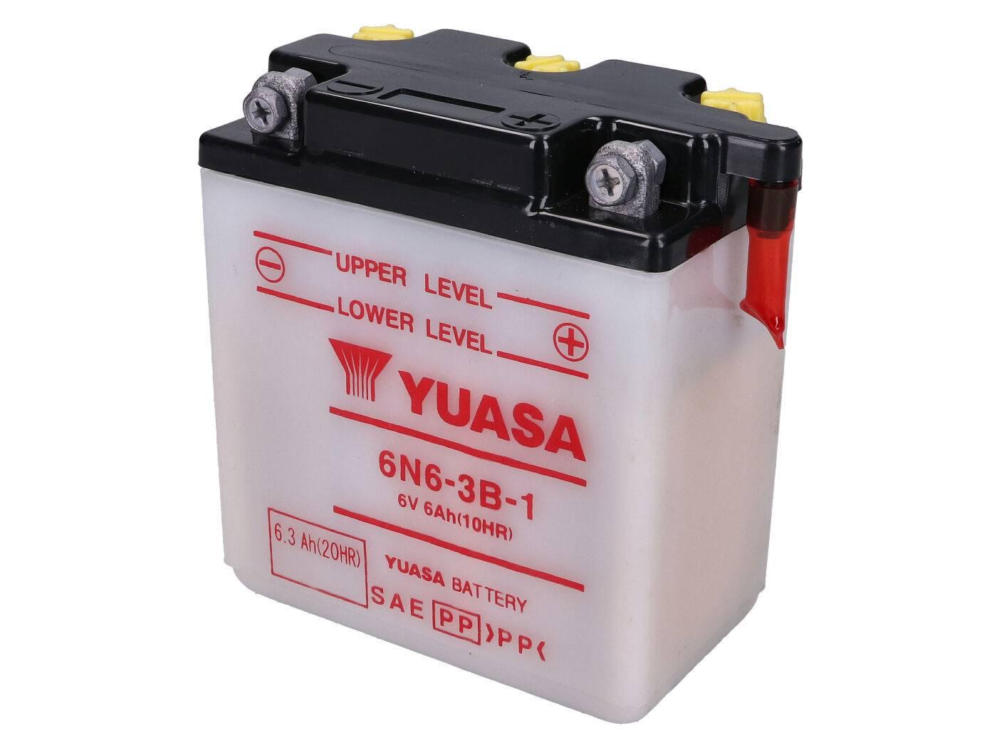 Yuasa 6N6-3B-1 akkumulátor - savcsomag nélkül