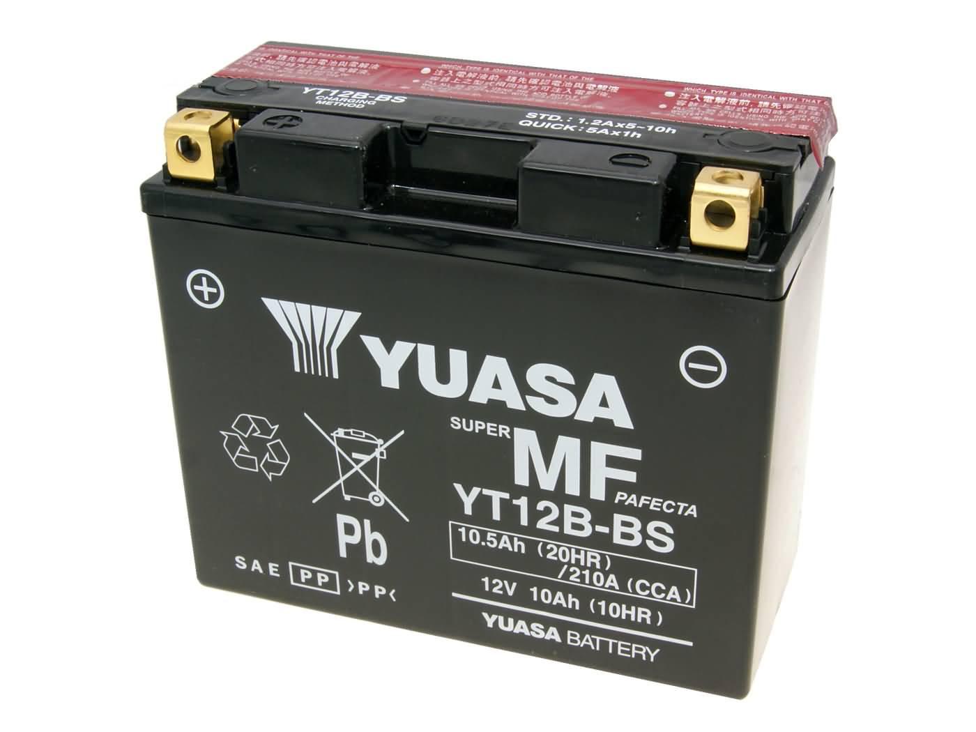 Yuasa YT12B-BS DRY MF száraz gondozásmentes akkumulátor