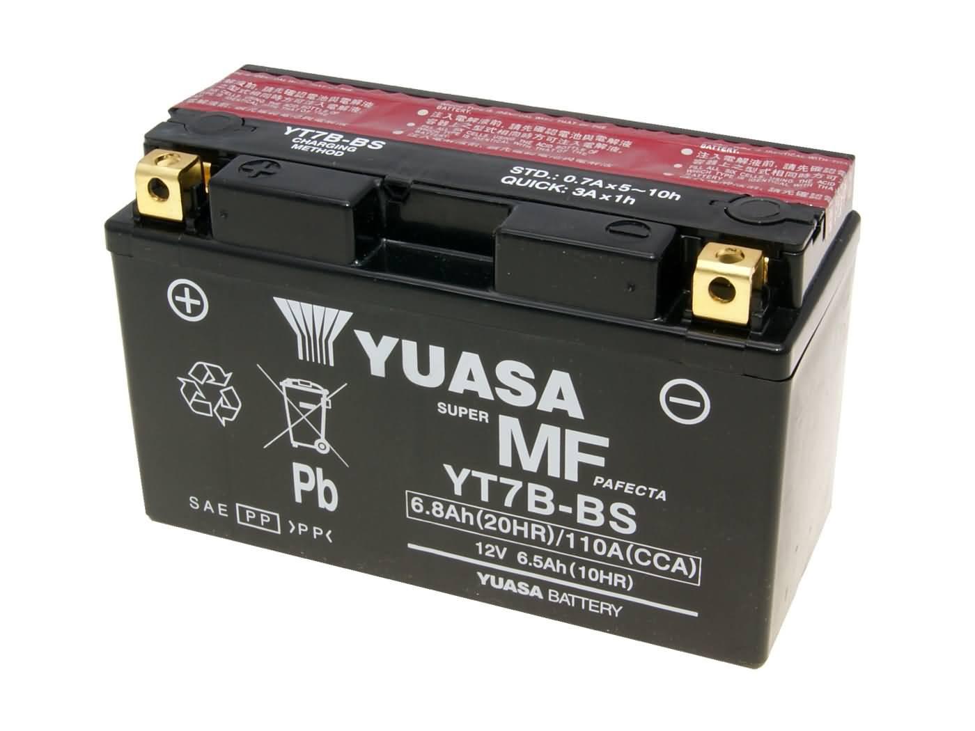 Yuasa YT7B-BS DRY MF száraz gondozásmentes akkumulátor