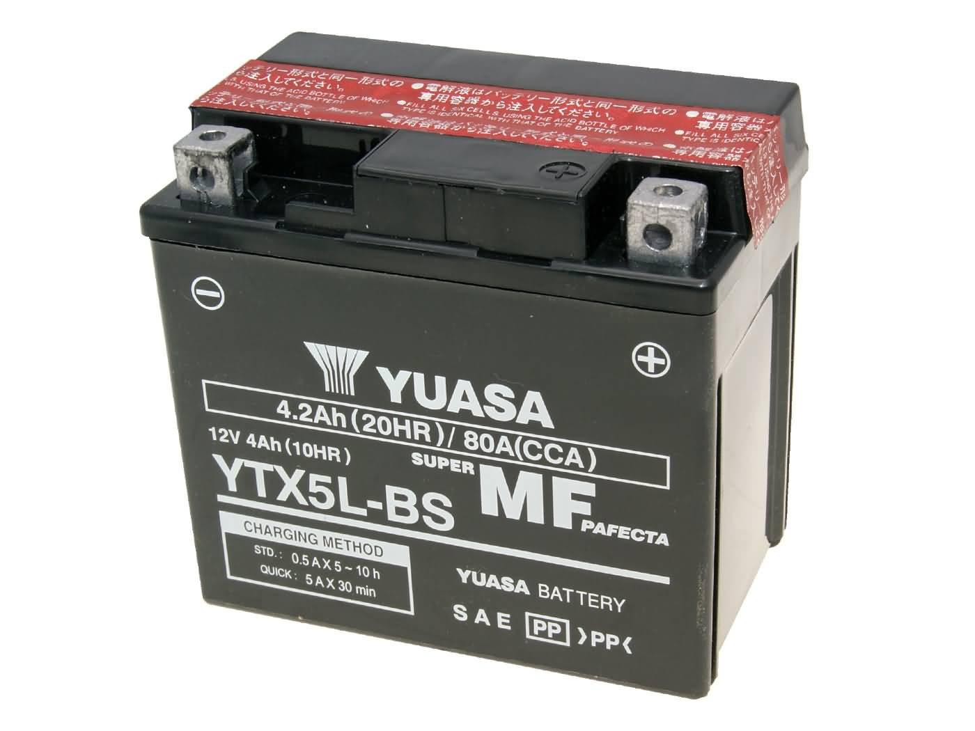 Yuasa YTX5L-BS DRY MF száraz gondozásmentes akkumulátor