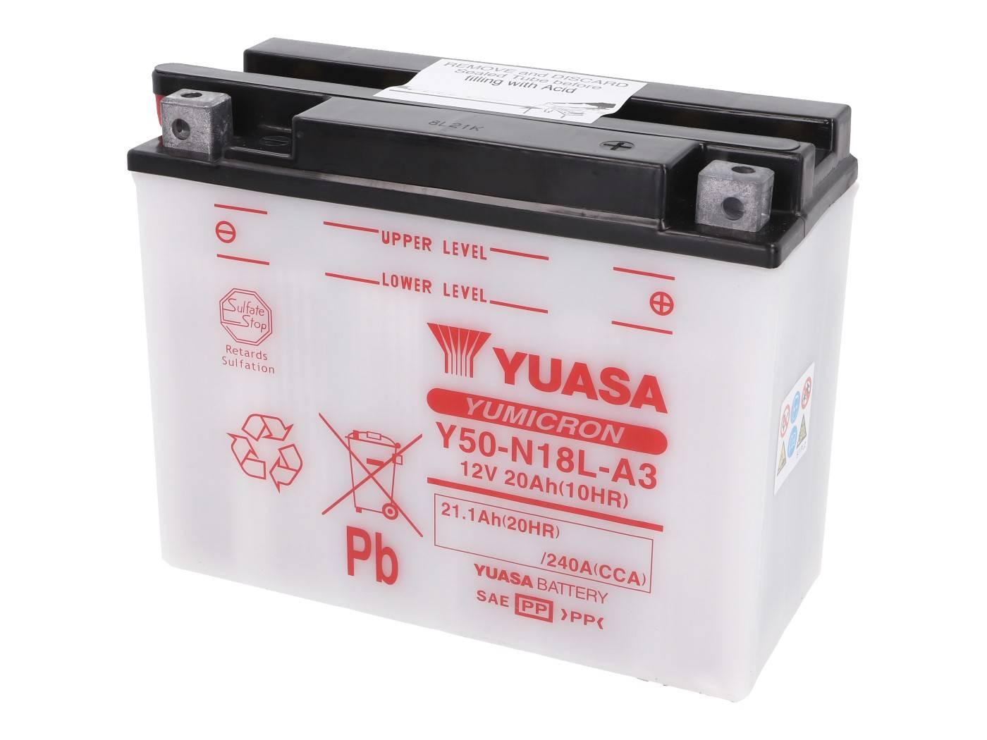 Yuasa YuMicron Y50-N18L-A3 akkumulátor - savcsomag nélkül