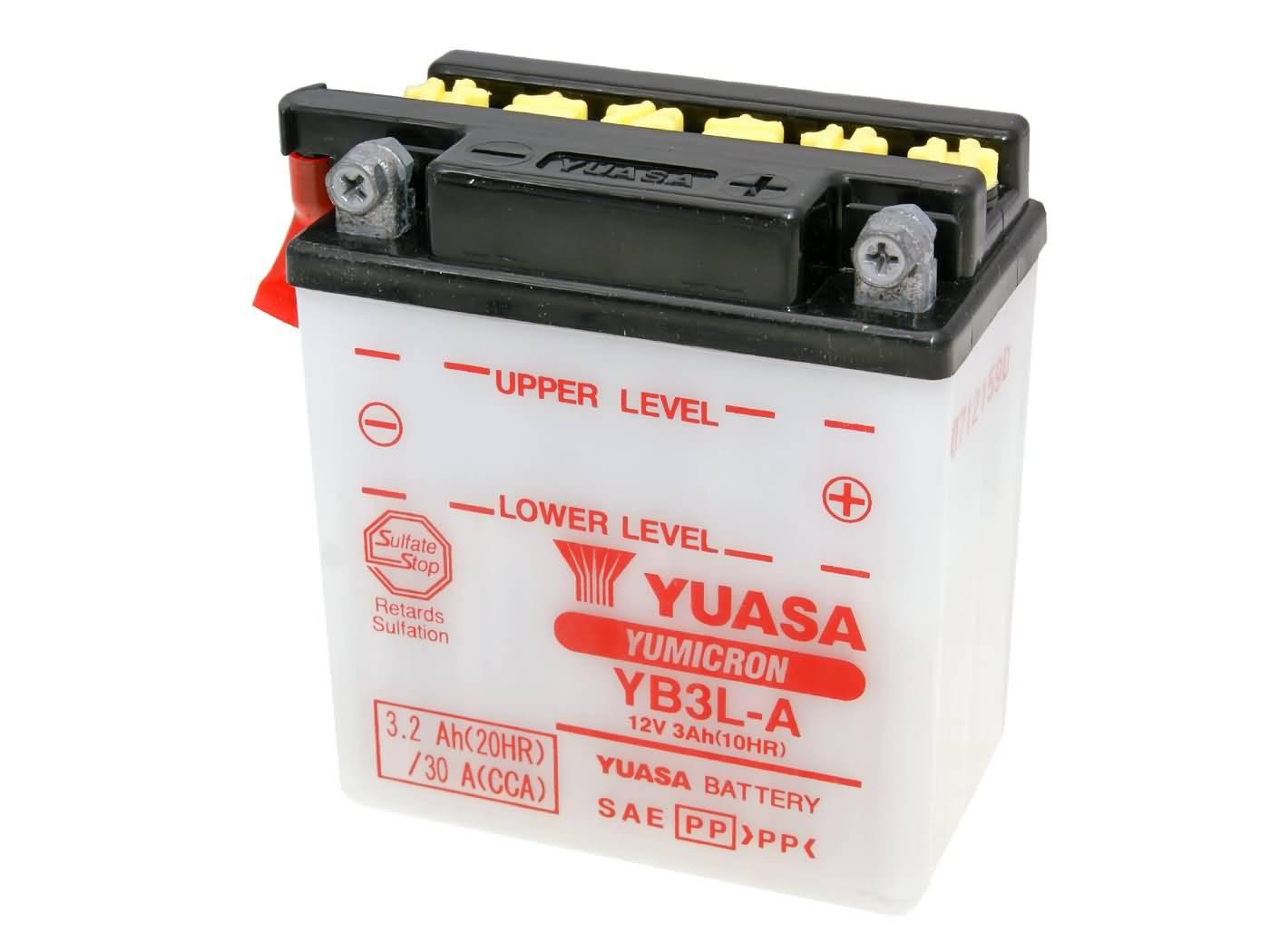 Yuasa YuMicron YB3L-A akkumulátor - savcsomag nélkül