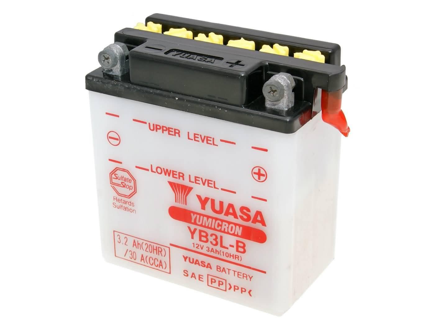 Yuasa YuMicron YB3L-B akkumulátor - savcsomag nélkül