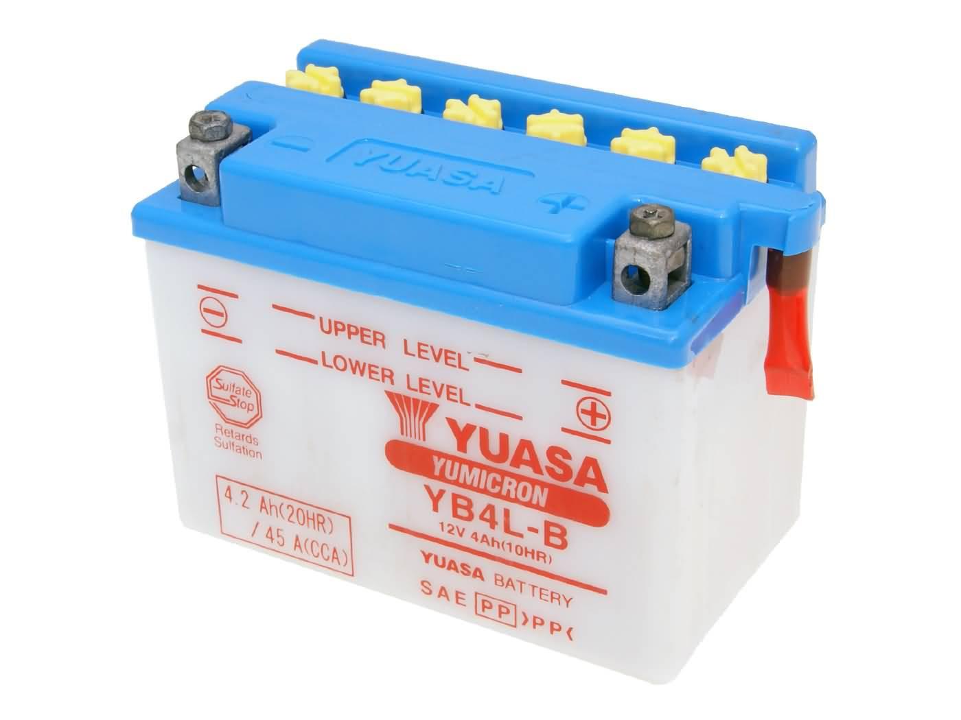 Yuasa YuMicron YB4L-B akkumulátor - savcsomag nélkül