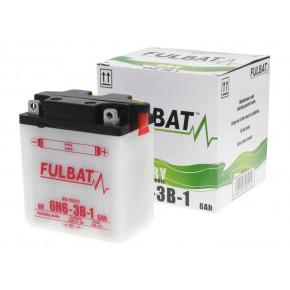 Fulbat 6V 6N6-3B-1 DRY száraz akkumulátor + savcsomag