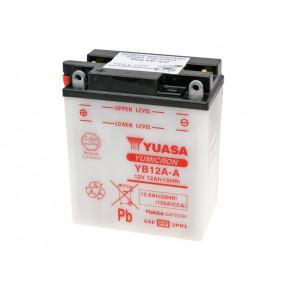 Yuasa YuMicron YB12A-A akkumulátor - savcsomag nélkül