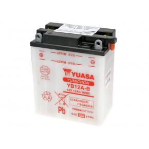 Yuasa YuMicron YB12A-B akkumulátor - savcsomag nélkül